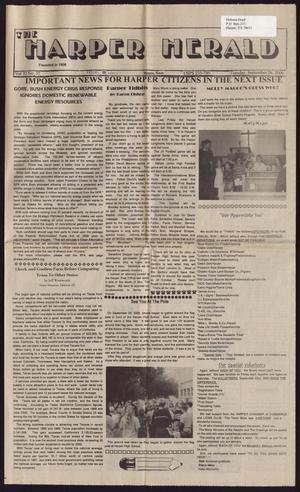 Primary view of object titled 'The Harper Herald (Harper, Tex.), Vol. 70, No. 37, Ed. 1 Tuesday, September 26, 2000'.