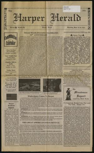 Primary view of object titled 'The Harper Herald (Harper, Tex.), Vol. 70, No. 82, Ed. 1 Thursday, September 20, 2001'.