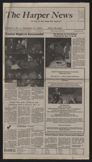 Primary view of object titled 'The Harper News (Harper, Tex.), Vol. 2, No. 4, Ed. 1 Friday, December 17, 2004'.