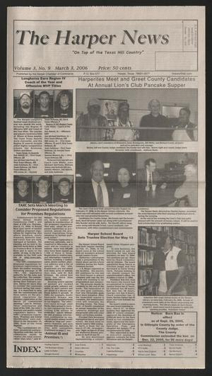Primary view of object titled 'The Harper News (Harper, Tex.), Vol. 3, No. 9, Ed. 1 Friday, March 3, 2006'.