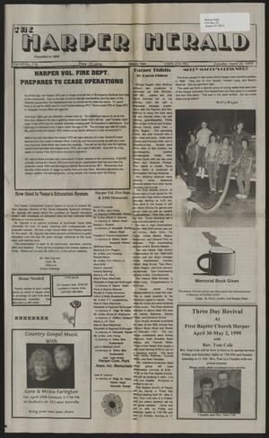 Primary view of object titled 'The Harper Herald (Harper, Tex.), Vol. 69, No. 116, Ed. 1 Tuesday, April 20, 1999'.