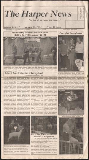 Primary view of object titled 'The Harper News (Harper, Tex.), Vol. 1, No. 7, Ed. 1 Friday, January 30, 2004'.