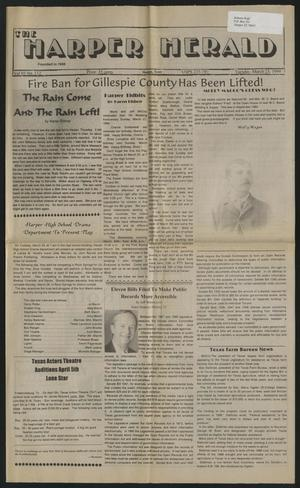 Primary view of object titled 'The Harper Herald (Harper, Tex.), Vol. 69, No. 112, Ed. 1 Tuesday, March 23, 1999'.