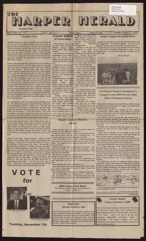 Primary view of object titled 'The Harper Herald (Harper, Tex.), Vol. 70, No. 42, Ed. 1 Tuesday, October 31, 2000'.