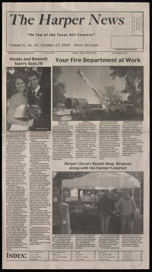 Primary view of object titled 'The Harper News (Harper, Tex.), Vol. 6, No. 24, Ed. 1 Friday, October 23, 2009'.