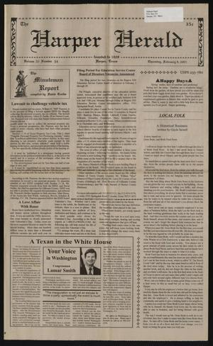 Primary view of object titled 'The Harper Herald (Harper, Tex.), Vol. 70, No. 54, Ed. 1 Thursday, February 8, 2001'.