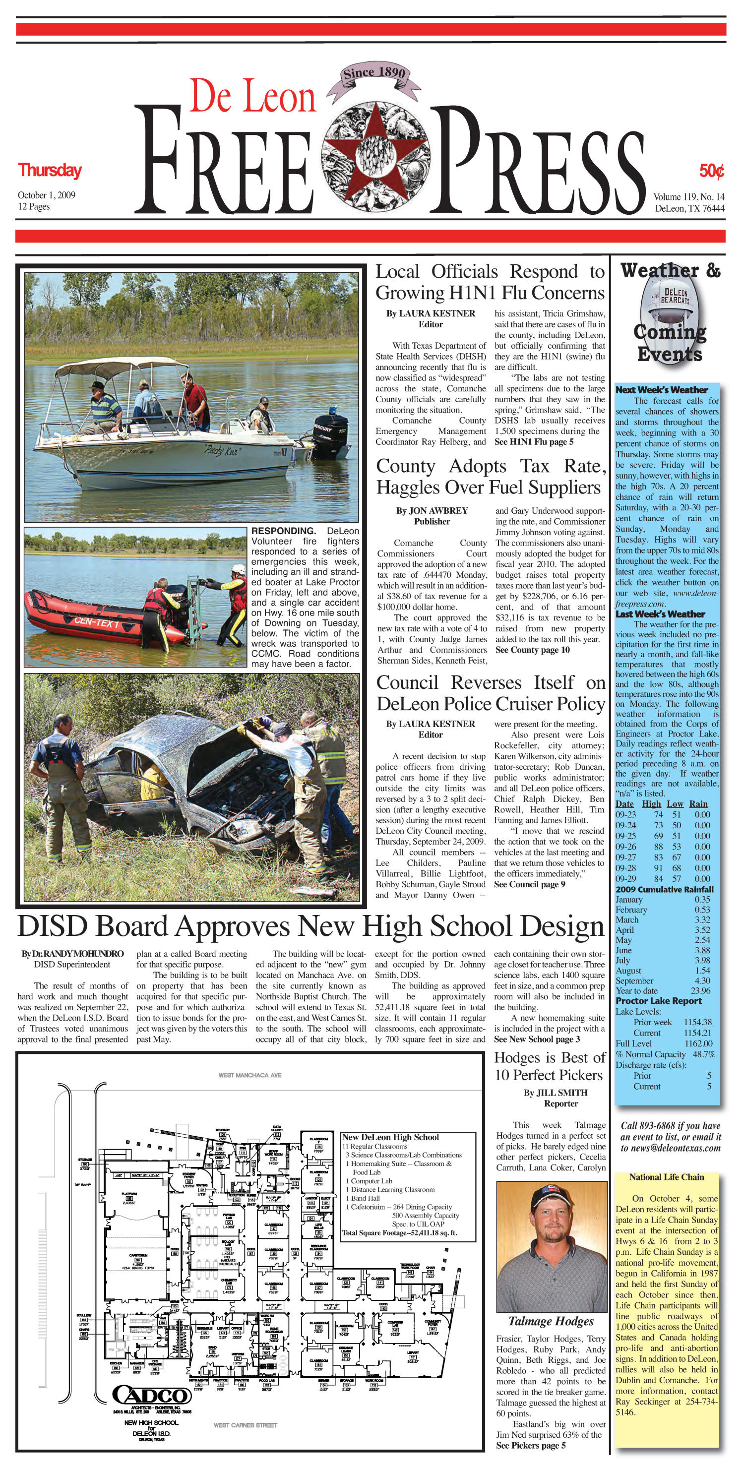De Leon Free Press (De Leon, Tex.), Vol. 119, No. 14, Ed. 1 Thursday, October 1, 2009                                                                                                      [Sequence #]: 1 of 12