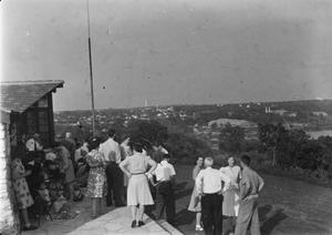 [People Looking out over Austin]