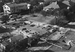 [Aerial View of the Trenches for the Foundation Footings for Shelton Chapel]