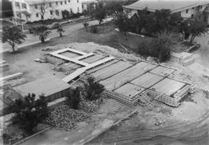 [Aerial View of the Entire Foundation of Shelton Chapel]