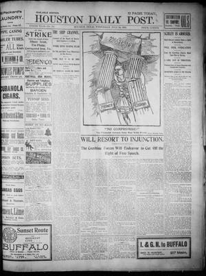 Primary view of object titled 'The Houston Daily Post (Houston, Tex.), Vol. XVIITH YEAR, No. 111, Ed. 1, Wednesday, July 24, 1901'.