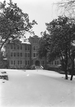 [Sampson Hall Covered in Snow]