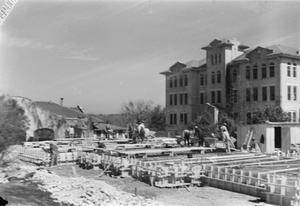 [Construction of the Foundation for Shelton Chapel]