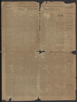 Primary view of object titled 'The Belton Journal. (Belton, Tex.), Vol. 12, No. 17, Ed. 1 Thursday, April 25, 1878'.