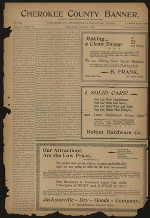 Cherokee County Banner. (Jacksonville, Tex.), Vol. 12, No. 27, Ed. 1 Friday, December 1, 1899