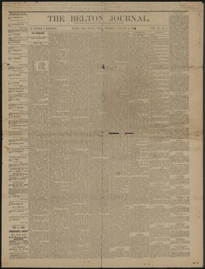 Primary view of object titled 'The Belton Journal. (Belton, Tex.), Vol. 20, No. 2, Ed. 1 Thursday, January 14, 1886'.