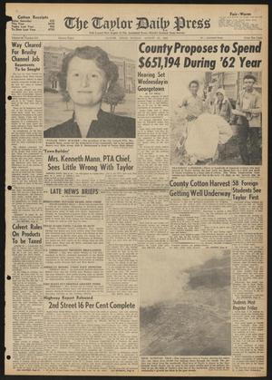 The Taylor Daily Press (Taylor, Tex.), Vol. 48, No. 215, Ed. 1 Sunday, August 27, 1961
