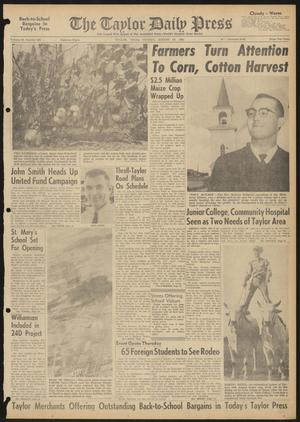 The Taylor Daily Press (Taylor, Tex.), Vol. 48, No. 209, Ed. 1 Sunday, August 20, 1961