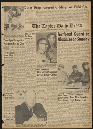 The Taylor Daily Press (Taylor, Tex.), Vol. 48, No. 257, Ed. 1 Sunday, October 15, 1961