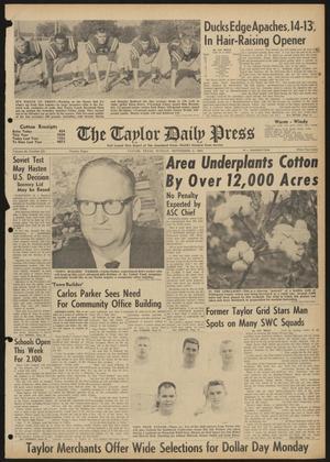 The Taylor Daily Press (Taylor, Tex.), Vol. 48, No. 221, Ed. 1 Sunday, September 3, 1961