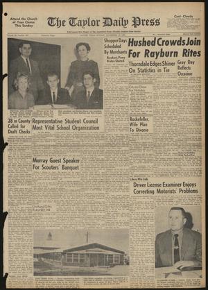 The Taylor Daily Press (Taylor, Tex.), Vol. 48, No. 287, Ed. 1 Sunday, November 19, 1961