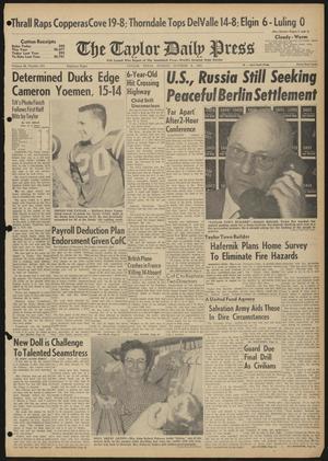 The Taylor Daily Press (Taylor, Tex.), Vol. 48, No. 251, Ed. 1 Sunday, October 8, 1961
