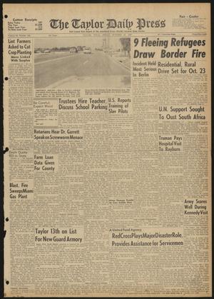 The Taylor Daily Press (Taylor, Tex.), Vol. 48, No. 256, Ed. 1 Friday, October 13, 1961