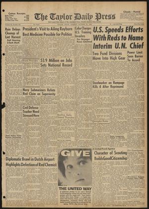 The Taylor Daily Press (Taylor, Tex.), Vol. 48, No. 253, Ed. 1 Tuesday, October 10, 1961
