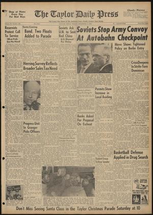 The Taylor Daily Press (Taylor, Tex.), Vol. 48, No. 298, Ed. 1 Friday, December 1, 1961