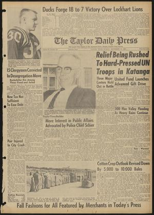 The Taylor Daily Press (Taylor, Tex.), Vol. 48, No. 233, Ed. 1 Sunday, September 17, 1961