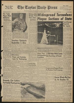 The Taylor Daily Press (Taylor, Tex.), Vol. 48, No. 290, Ed. 1 Wednesday, November 22, 1961