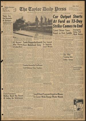 The Taylor Daily Press (Taylor, Tex.), Vol. 48, No. 258, Ed. 1 Monday, October 16, 1961