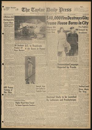 The Taylor Daily Press (Taylor, Tex.), Vol. 48, No. 262, Ed. 1 Friday, October 20, 1961