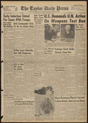 The Taylor Daily Press (Taylor, Tex.), Vol. 48, No. 237, Ed. 1 Thursday, September 21, 1961