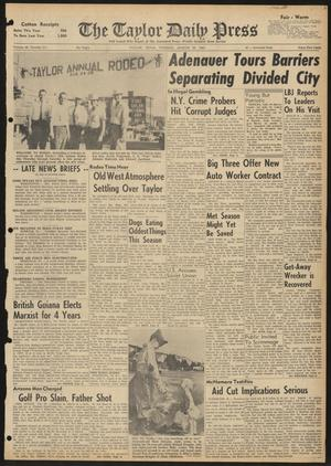The Taylor Daily Press (Taylor, Tex.), Vol. 48, No. 211, Ed. 1 Tuesday, August 22, 1961
