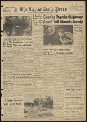 The Taylor Daily Press (Taylor, Tex.), Vol. 48, No. 222, Ed. 1 Monday, September 4, 1961