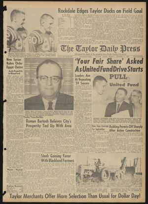 The Taylor Daily Press (Taylor, Tex.), Vol. 48, No. 245, Ed. 1 Sunday, October 1, 1961