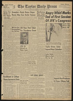 The Taylor Daily Press (Taylor, Tex.), Vol. 48, No. 242, Ed. 1 Wednesday, September 27, 1961