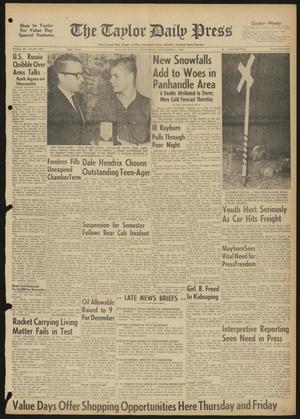 The Taylor Daily Press (Taylor, Tex.), Vol. 48, No. 284, Ed. 1 Wednesday, November 15, 1961