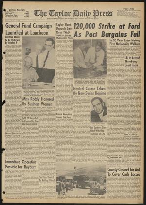 The Taylor Daily Press (Taylor, Tex.), Vol. 48, No. 247, Ed. 1 Tuesday, October 3, 1961