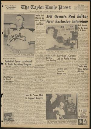 The Taylor Daily Press (Taylor, Tex.), Vol. 48, No. 293, Ed. 1 Sunday, November 26, 1961