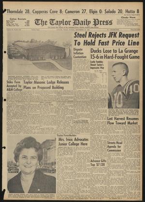 The Taylor Daily Press (Taylor, Tex.), Vol. 48, No. 239, Ed. 1 Sunday, September 24, 1961