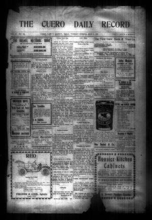 The Cuero Daily Record (Cuero, Tex.), Vol. 29, No. 105, Ed. 1 Tuesday, May 4, 1909