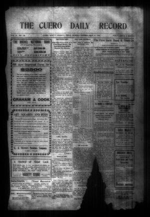 The Cuero Daily Record (Cuero, Tex.), Vol. 29, No. 128, Ed. 1 Monday, May 31, 1909
