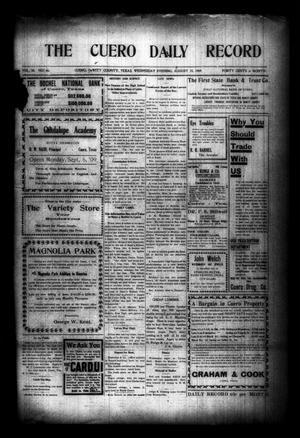 The Cuero Daily Record (Cuero, Tex.), Vol. 30, No. 46, Ed. 1 Wednesday, August 25, 1909