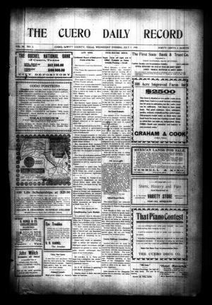 The Cuero Daily Record (Cuero, Tex.), Vol. 30, No. 5, Ed. 1 Wednesday, July 7, 1909