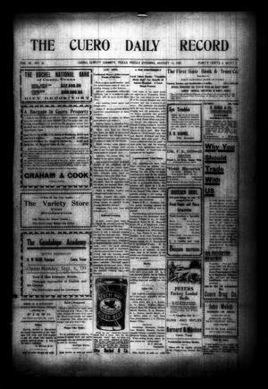The Cuero Daily Record (Cuero, Tex.), Vol. 30, No. 36, Ed. 1 Friday, August 13, 1909
