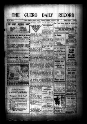 Primary view of object titled 'The Cuero Daily Record (Cuero, Tex.), Vol. 30, No. 33, Ed. 1 Tuesday, August 10, 1909'.