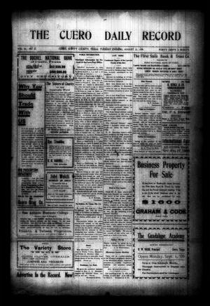 The Cuero Daily Record (Cuero, Tex.), Vol. 30, No. 51, Ed. 1 Tuesday, August 31, 1909
