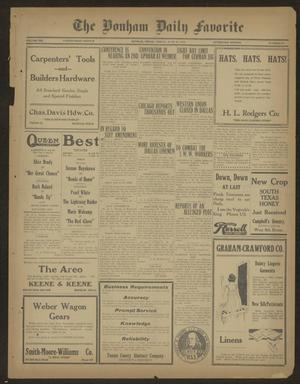 The Bonham Daily Favorite (Bonham, Tex.), Vol. 21, No. 271, Ed. 1 Friday, June 13, 1919